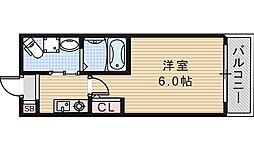 大阪府大阪市阿倍野区北畠1の賃貸マンションの間取り