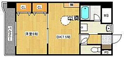 ライオンズマンション六ツ門第2[4階]の間取り