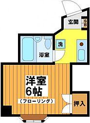 東京都中野区南台4丁目の賃貸マンションの間取り