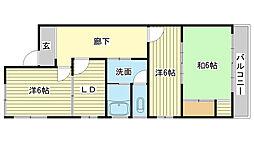 中川ビル[3-W号室]の間取り