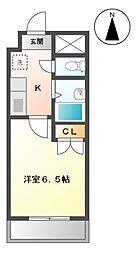 愛知県長久手市段の上の賃貸マンションの間取り