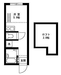 戸塚区上矢部アパートメントB棟[104号室]の間取り