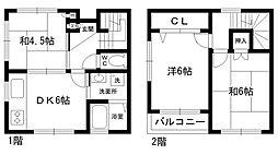 [テラスハウス] 兵庫県西宮市大谷町 の賃貸【/】の間取り