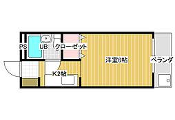 ハートフル野中[1階]の間取り