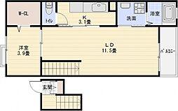 セレノアロッジオ7[4階]の間取り