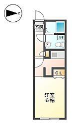 MODULOR名城公園[3階]の間取り