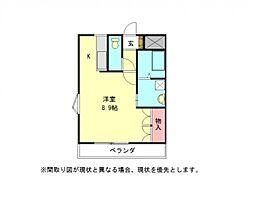 愛知県一宮市丹羽字北屋敷の賃貸アパートの間取り
