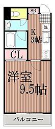 東京都大田区羽田2丁目の賃貸マンションの間取り