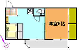 ヴィラ横須賀A[101号室]の間取り