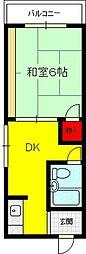 マンションプレザント[6階]の間取り