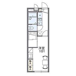 レオパレスサンライズヤマニ[2階]の間取り