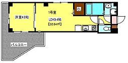 プラウディア稲毛[1階]の間取り