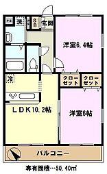埼玉県さいたま市岩槻区大字尾ヶ崎新田の賃貸マンションの間取り