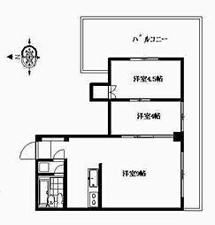 花房山ヒルズ[5階]の間取り