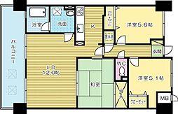 ニューガイア四季彩の丘 B棟[7階]の間取り