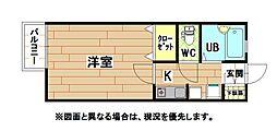 福岡県北九州市小倉北区江南町の賃貸アパートの間取り