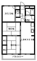 アメニティハウス1・2[1-301号室]の間取り