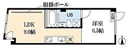 RE-001 3階1LDKの間取り
