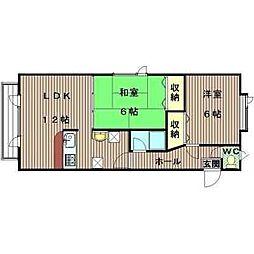 北海道札幌市東区北四十条東17丁目の賃貸アパートの間取り