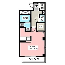 駅前町アビタシオン[1階]の間取り