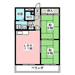 メゾン豊田[4階]の間取り
