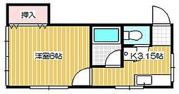 新潟県新潟市中央区沼垂西2丁目の賃貸アパートの間取り