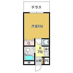 シャルマンフジ大和高田弐番館[1階]の間取り