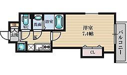 Luxe江坂2 3階1Kの間取り