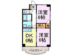 愛知県半田市亀崎高根町6の賃貸マンションの間取り