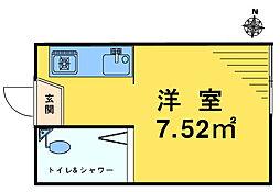 ライブコア中井[201号室]の間取り