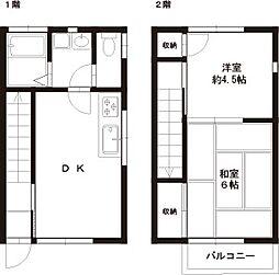 [テラスハウス] 東京都福生市大字熊川 の賃貸【/】の間取り
