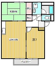 Surplus83(八幡)A棟[201号室号室]の間取り