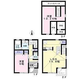 [タウンハウス] 千葉県船橋市西船 の賃貸【/】の間取り