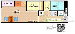 神奈川県海老名市大谷北3丁目の賃貸アパートの間取り