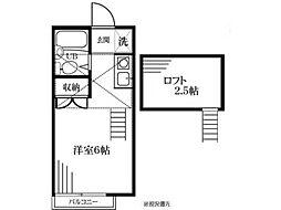 新豊田ハイツB号館[2階]の間取り