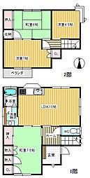 [一戸建] 香川県高松市国分寺町新名 の賃貸【/】の間取り