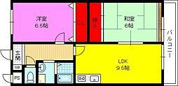 吉鴻ハイネス3[3階]の間取り