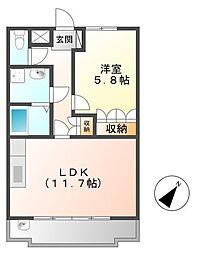 Tida Square NAMIKI[202号室]の間取り