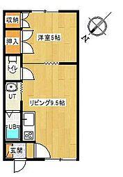 ナカシンコーポ[203号室]の間取り