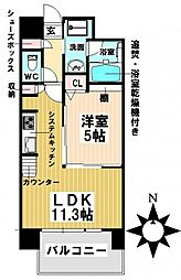 愛知県名古屋市昭和区檀溪通1丁目の賃貸マンションの間取り