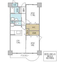 木村ロイヤルマンション IV[403号室号室]の間取り