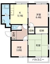 埼玉県さいたま市緑区太田窪3丁目の賃貸アパートの間取り