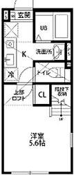 神奈川県相模原市南区古淵4の賃貸アパートの間取り