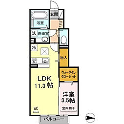 D-room泉台 A棟[1階]の間取り