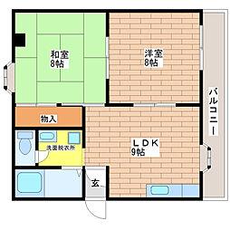 クロス9パーク神田[805号室]の間取り