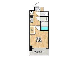 プレサンス堺筋本町センティス 8階1Kの間取り