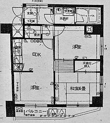 ライオンズマンション平沼第5[6階]の間取り