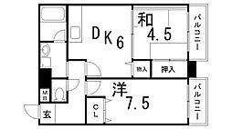 潮マンション[7階]の間取り