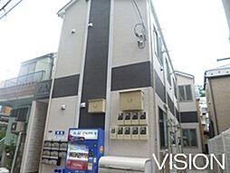 東京都北区赤羽北2丁目の賃貸アパートの外観