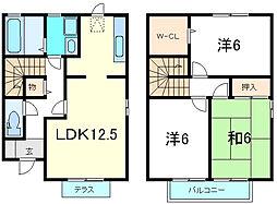 [テラスハウス] 兵庫県神戸市西区白水3丁目 の賃貸【/】の間取り